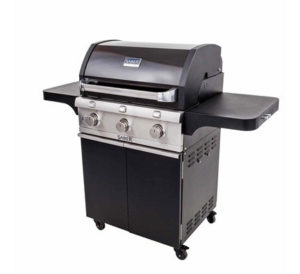 Saber Cast Black 3 Burner Gas Grill