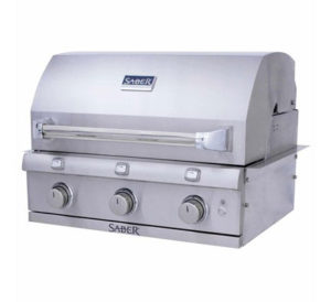 Saber Stainless Steel Built in 3 Burner Gas Grill