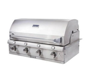 Saber Stainless Steel Built In 4 Burner Gas Grill