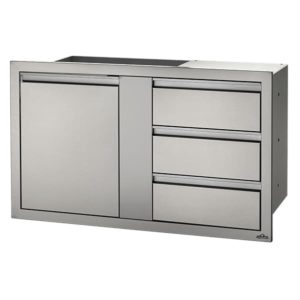 Napoleon 42x24 Large Single Door Triple Drawer