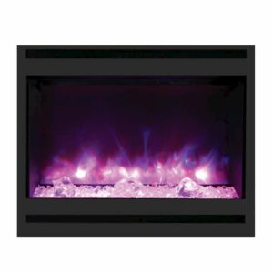 Amantii ZECL-31-3228-STL-SQR Zero Clearance Electric Fireplace